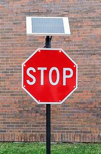 Solar, Powered, Led, Stop, Sign