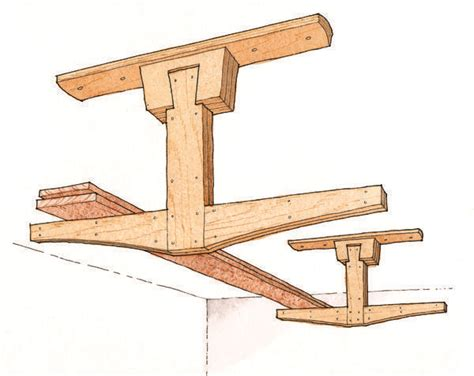overhead lumber storage rack plans woodworking projects