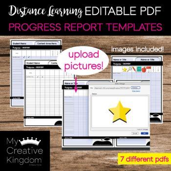 editable  progress report templates   mandy tpt