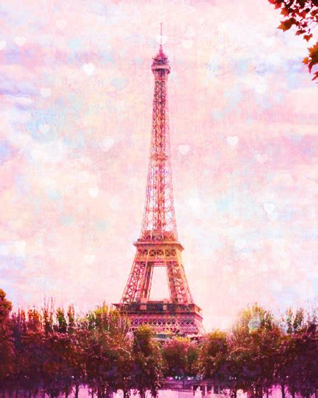 pink paris eiffel tower photography paris art print pink