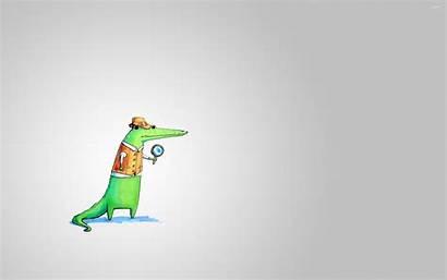 Detective Crocodile Funny Wallpapers Suwalls