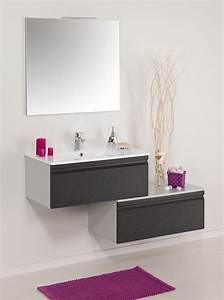 Meuble Salle De Bain Peu Profond : meuble salle de bain ancodesign 0848b ~ Edinachiropracticcenter.com Idées de Décoration