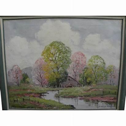 Ernest Fredericks Spring Impressionist Landscape 1877 1959