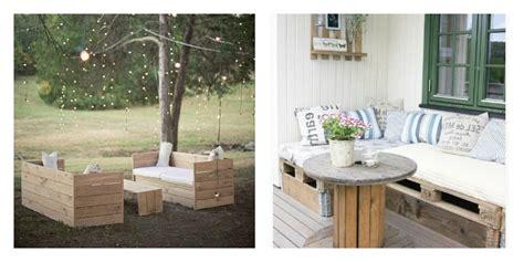canapé d angle de jardin le salon de jardin en palette en plus de 110 idées originales