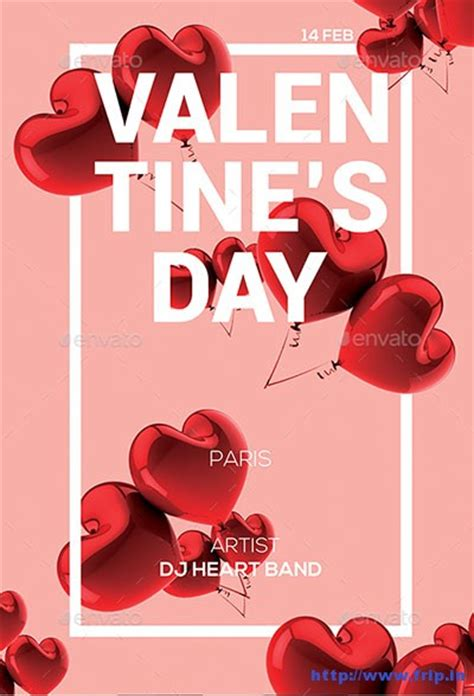 valentines day party flyer templates  fripin