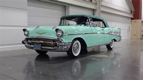 chevrolet bel air convertible  surf green engine