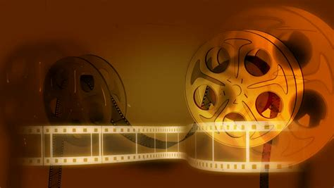 fashioned film reel animation stock footage video