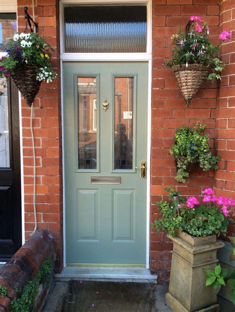 Victorian Terrace Front Door Sage Green Porch