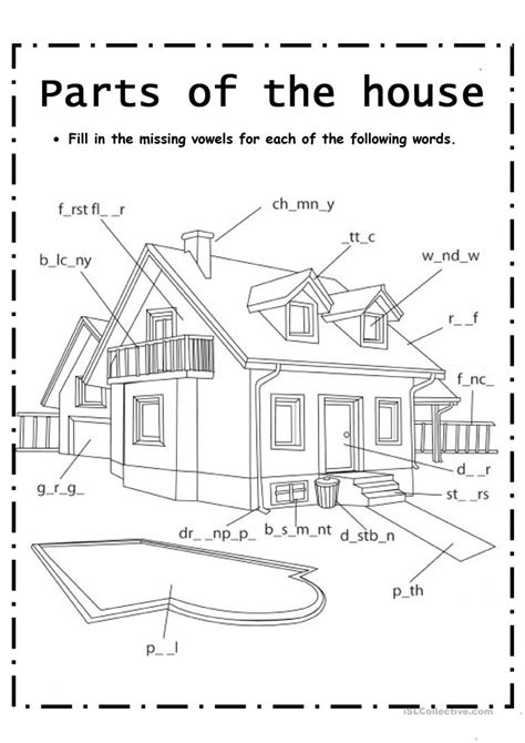 Parts Of House Worksheet  Free Esl Printable Worksheets Made By Teachers