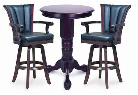 mahogany pedestal pub table 2 chair set by berner billiards
