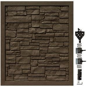 simtek  ft    ft  ecostone dark brown composite fence panel fpxdbr  home depot
