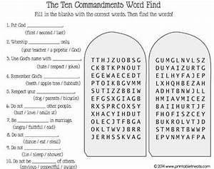 Ten Commandments Word Search   bible puzzles/quiz/word ...