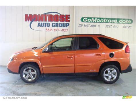 2005 Fusion Orange Metallic Pontiac Aztek Rally Edition