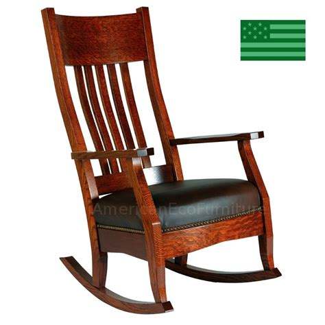amish mission rocking chair solid wood made in america
