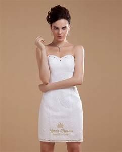 short ivory lace sheath wedding dress with beaded With short sheath wedding dresses