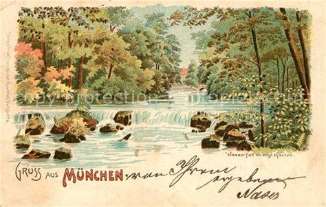 Englischer Garten München Wasserfall by Ak Ansichtskarte Muenchen Englischer Garten