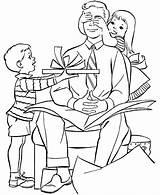 Parents Coloring Pages Obeying Colouring sketch template