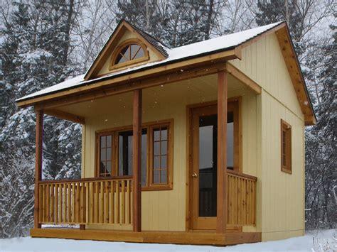 10 X 10 Cabin Bunkie Cabin With House Cabin Plans Canada