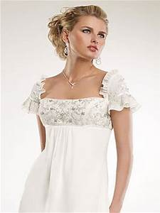 how to decorate and ornate empire waist wedding dresses With empire waist short wedding dress
