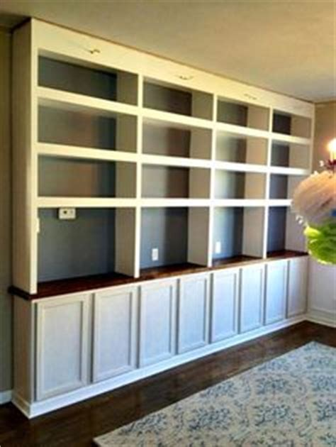 thrifty decor library diy built in bookcases butcher block used cabinets