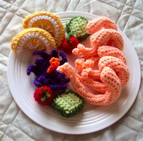 crochet cuisine 12 best images about amigurumi miscellanous food plates on