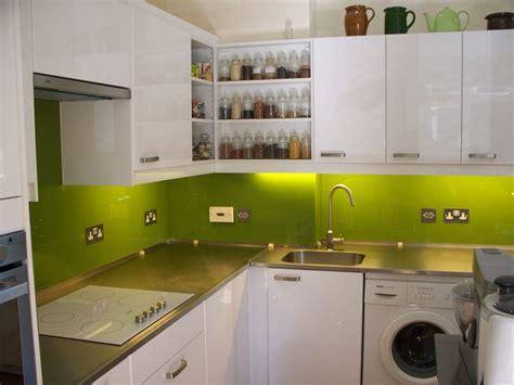 green splashback kitchen lime green glass splashback my place 1465