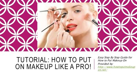 How To Put On Makeup Like A Pro (tutorial