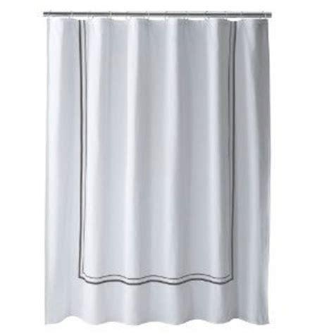 fieldcrest luxury gray border white fabric shower curtain