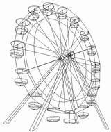 Ferris Wheel Diagram Sketch Coloring Disney Template Templates sketch template