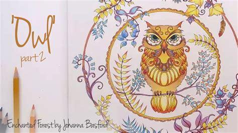 enchanted forest johanna basford owl part  youtube