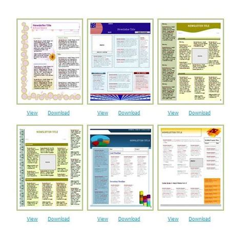 find  church newsletters templates