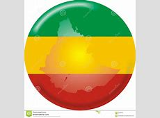 Ethiopia map and flag stock vector Illustration of sign