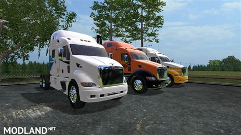 Peterbilt Moving semi and trailers mod Farming Simulator 17