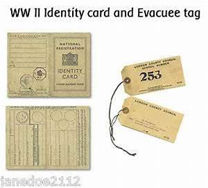 ii world war 2 identity card and evacuee tag ks2 With evacuee tag template