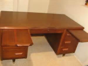 executive office desk walnut wood antique vintage jofco