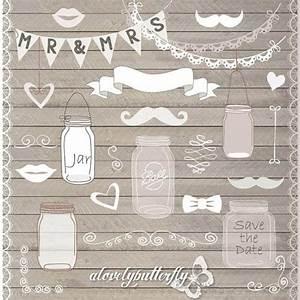 hand draw mason jar wedding invitation clipart rustic With mason jar clip art for wedding invitations