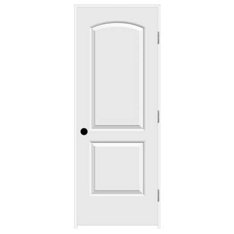 2 panel arch top interior doors jeld wen 30 in x 80 in smooth 2 panel arch top solid