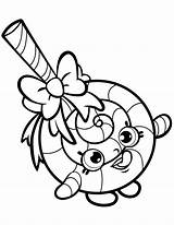 Shopkins Candy Sweet Coloring Pages Printable Colouring Kawaii Beatiful Categories sketch template