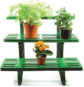3 tier etagere straight potted plant pot garden display