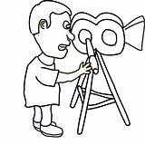 Kamera Camera Outline Kartun Cameraman Pegang Clip Orang Editing Censorship Films Digital Service Story Tell Vector Clipart Cinematography Student Law sketch template