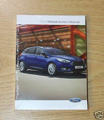 genuine ford focus handbook owners manual