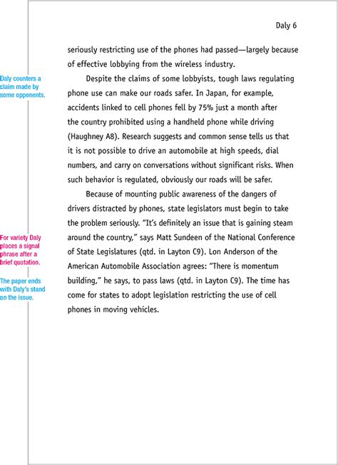 mla format sample paper  edition mlaformatorg