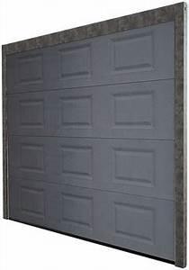porte de garage sectionnelle basculant 2 vantaux With porte de garage motorisée brico depot