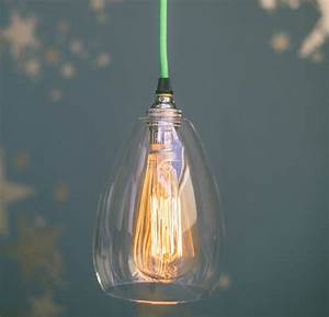 Jules clear glass handblown pendant light by glow lighting