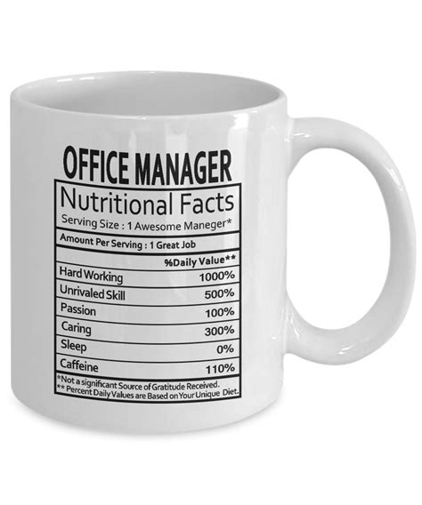 office manager gifts office manager manager nutritional