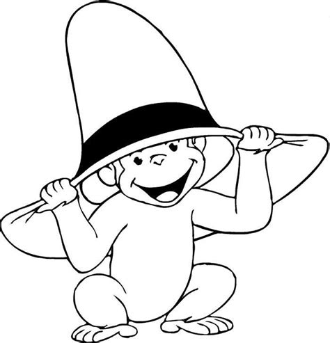 curious george coloring page curious george clip free coloring home