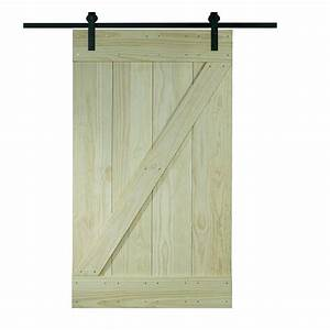 pinecroft 26 in x 81 in timber hill wood barn door with With 26 inch barn door
