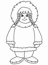 Eskimo Coloring Pages Template American Printable Getcolorings Templates sketch template