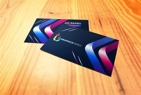 creative colorful business card design graphicsfamily