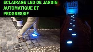 pave pour allee de jardin 6 eclairage led rgb pour With modele de rocaille pour jardin